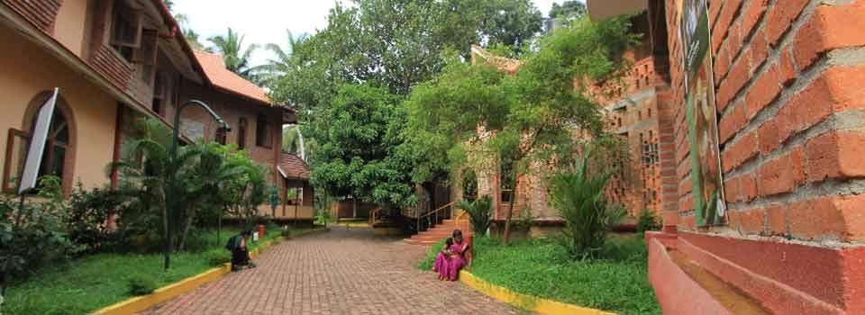 Pathway between dormitory and academic block