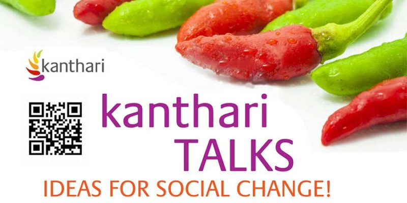 kanthari TALKS banner with chillis and a QR code to TALKS page
