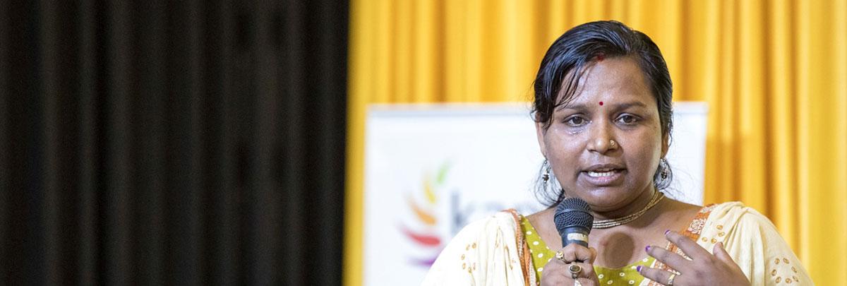 Sadhana 2017 participants delivering speech