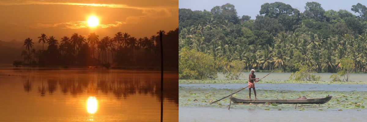 Host you event at kanthari - Images of sunset and fisherman on boat