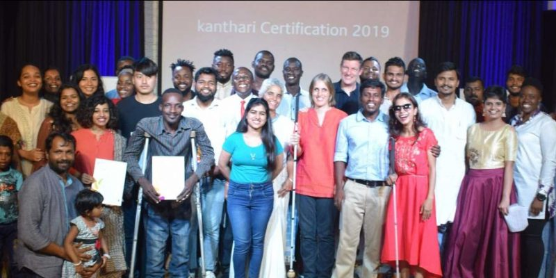 2019 Pariticipants holding certificates during certification ceremony