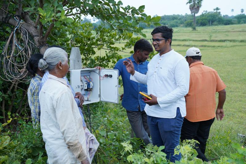 Satya installing safe pump switch starters